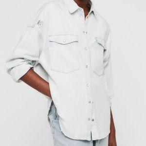 All Saints Harper Denim Shirt - Distressed